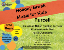 FREE Holiday Meals for Students