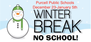 Winter Break-December 23 - January 5th