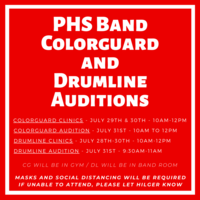 PHS Band - Colorguard and Drumline Clinics